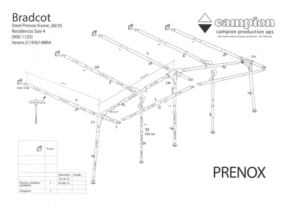 Residencia Steel Frame 900cm 1125cm Bradcot Awnings