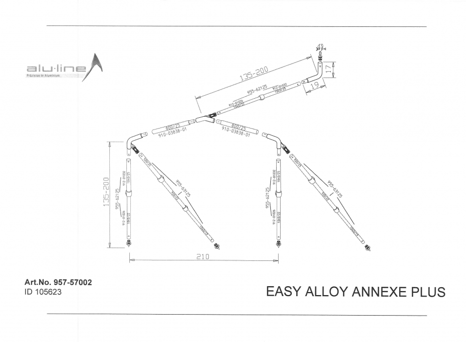 Easy System Alloy Annexe Plus Frame Tall Bradcot Awnings
